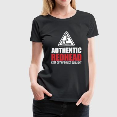 Authentic Redhead Funny Women T-Shirt - Women's Premium T-Shirt