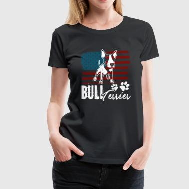 BULL TERRIER USA FLAG SHIRTS - Women's Premium T-Shirt