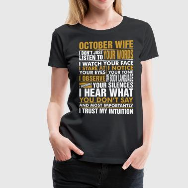 October Wife Tshirt - Women's Premium T-Shirt