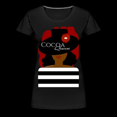 Hat and Flower Cocoa Queen Red Splash - Women's Premium T-Shirt