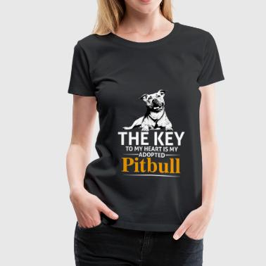 This Girl Loves Her Pit Bull - Women's Premium T-Shirt