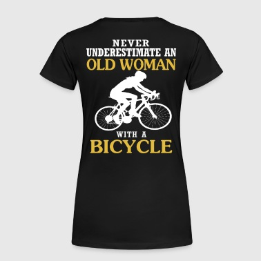 OLD WOMAN WITH A BICYCLE - Women's Premium T-Shirt