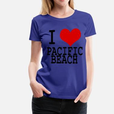 Pacific North I HEART PACIFIC BEACH - Women's Premium T-Shirt