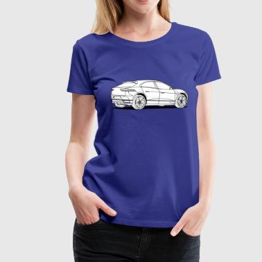 Jagged jag white - Women's Premium T-Shirt
