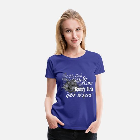 Girl T-Shirts - CityGirlsSlipNSlide - white - Women's Premium T-Shirt royal blue