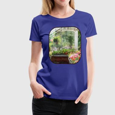 Geraniums in Greenhouse - Women's Premium T-Shirt