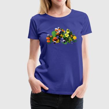 Patch of Pansies - Women's Premium T-Shirt