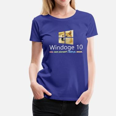 Microsoft Windows Womens' Windoge 10 Premium T-Shirt - Women's Premium T-Shirt