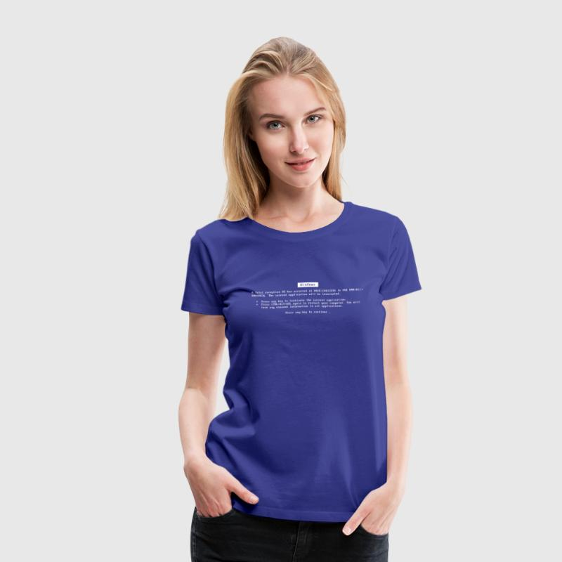 Blue screen of death - Women's Premium T-Shirt