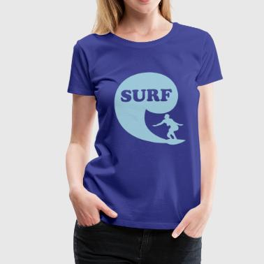 Nude Surf Surfin' Bird - surf - Women's Premium T-Shirt