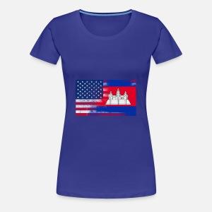5129c40a2251 Canadian American Half Canada Half America Flag Women s Organic T ...