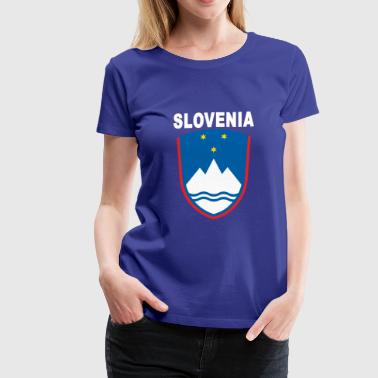 Slovenia National Emblem Original - Women's Premium T-Shirt