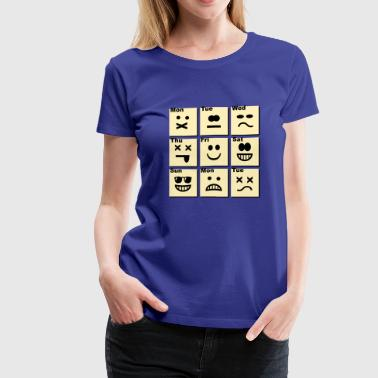 Everyday life - emoticons - Women's Premium T-Shirt