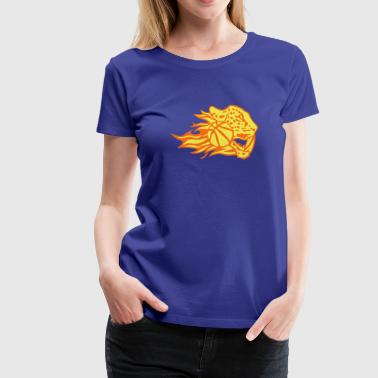 basketball fire flame logo leopard - Women's Premium T-Shirt