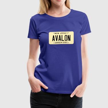 Avalon Avalon New Jersey License Plate - Women's Premium T-Shirt