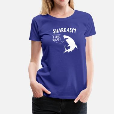 Sharkasm Sharkasm - I Love Salad - Women's Premium T-Shirt