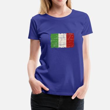 Italy Vintage Italy Flag - Vintage Look - Women's Premium T-Shirt