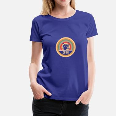 Drum Circle Drum Retro - gift - Women's Premium T-Shirt