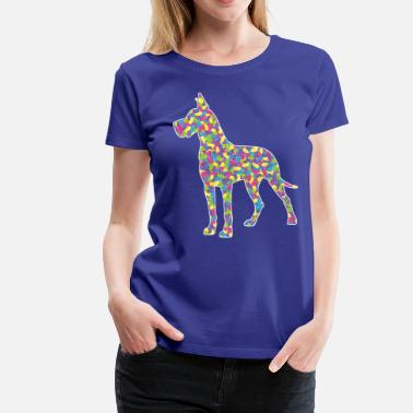 Great Dane Colors Easter Jellybean Great Dane - Women's Premium T-Shirt