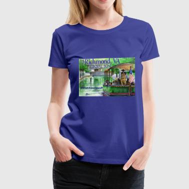 Richmond Va Canal Boat Richmond, VA - Women's Premium T-Shirt