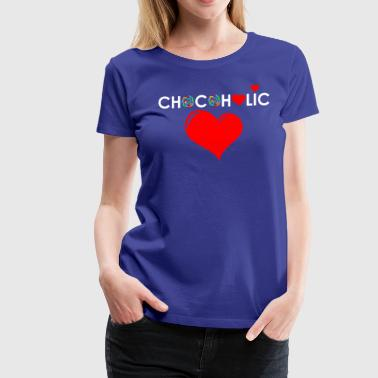 Chocolate Lover Chocolate Lover with Red Heart - Women's Premium T-Shirt