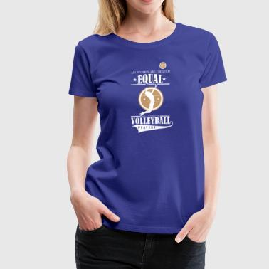 Volleyball players - Women's Premium T-Shirt