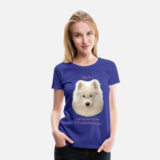 Puppy T-Shirts - Boyfriend Material - Women's Premium T-Shirt royal blue
