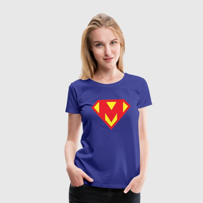 mothers day supermom superhero tshirt - Women's Premium T-Shirt