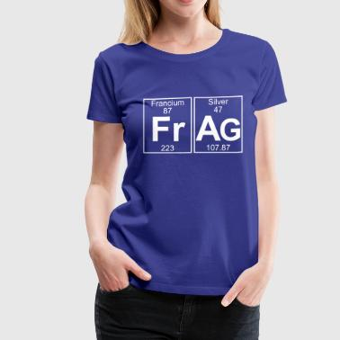 Francium Periodic Table Fr-Ag (frag) - Full - Women's Premium T-Shirt