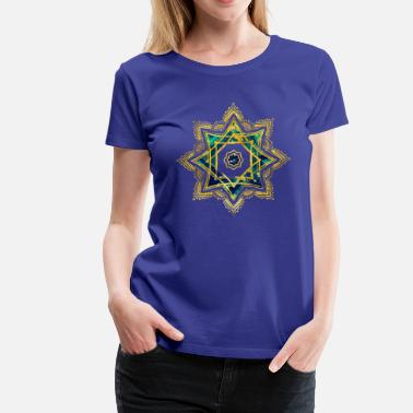 Lakshmi Golden Decorative Star of Lakshmi - Ashthalakshmi  - Women's Premium T-Shirt