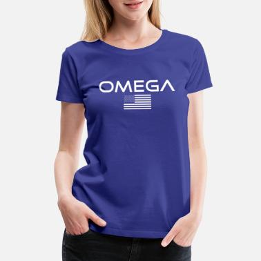 American Flag OMEGA Industries - America - Flag - USA - Pride - Women's Premium T-Shirt