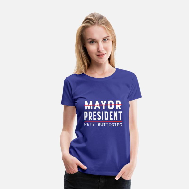Communist T-Shirts - Mayor Pete Buttigieg for President Election - Women's Premium T-Shirt royal blue