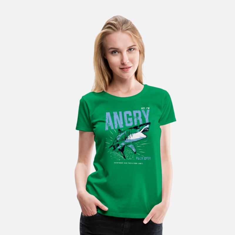 f541e747 Animal Angry Shark Slogan - I'm Angry Fuck Off!!! Women's Premium T-Shirt |  Spreadshirt