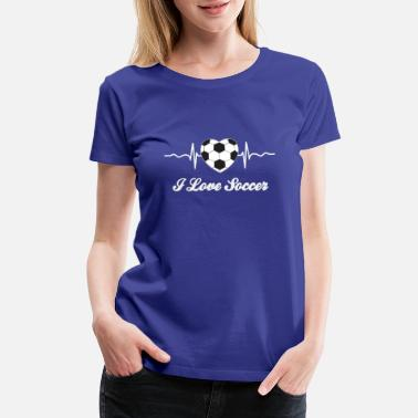 Shaped I love soccer game - Women's Premium T-Shirt