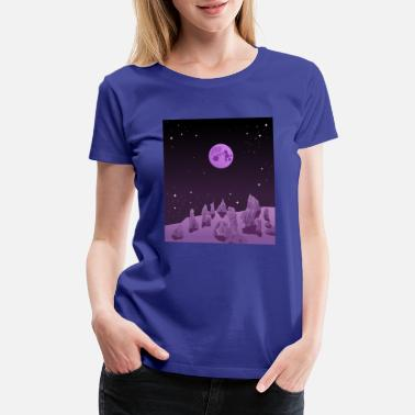 Nebula Love you to the moon and back - Women's Premium T-Shirt