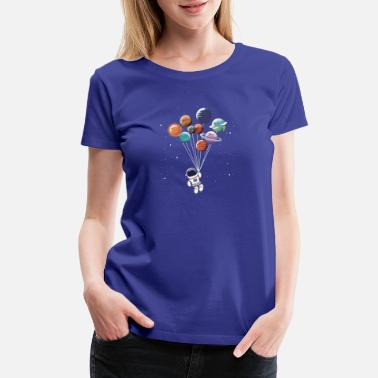 Planet Balloon T-Shirt-Gift T-Shirt For Space Fans - Women's Premium T-Shirt