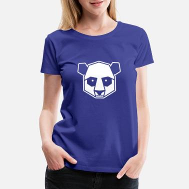 Panda Desiigner Panda Geometric Panda Illustration Art Animal Zoo - Women's Premium T-Shirt