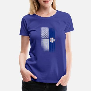 State Of Virginia Flag USA Vintage West Virginia State Flag - Women's Premium T-Shirt