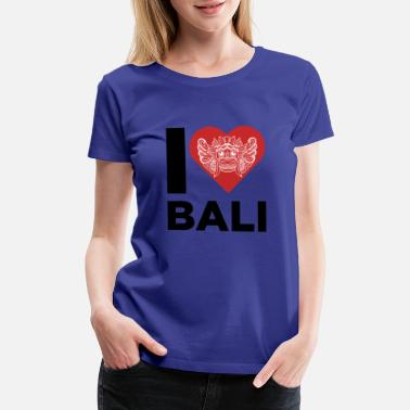 Ubud I love Bali Backpacking Tee - Women's Premium T-Shirt