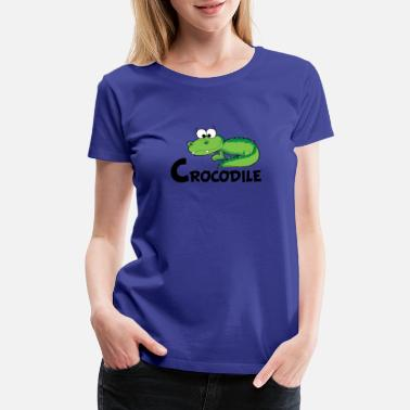 Cartoon Crocodile Cartoon Crocodile - Women's Premium T-Shirt