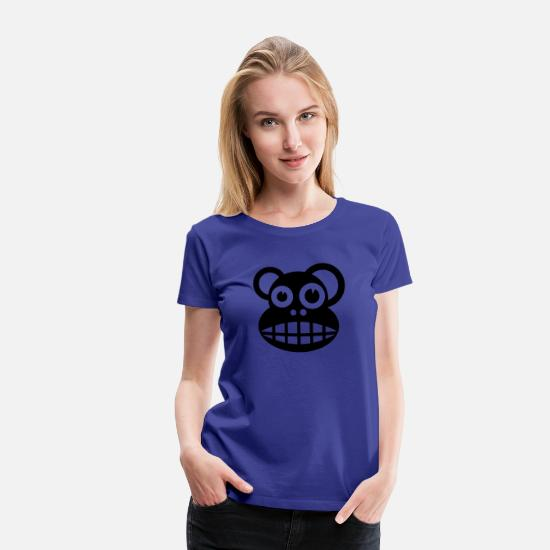 Animal Rights Activists T-Shirts - ape chimpanzee funny animal face - Women's Premium T-Shirt royal blue