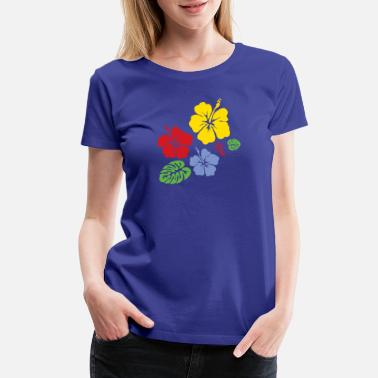 Flower Design Hibiscus - Women's Premium T-Shirt