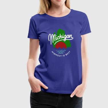 The Great Mitten State - Women's Premium T-Shirt