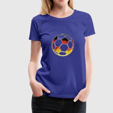 GERMANY SOCCER BALL Germania Balls Flag Worldcup - Women's Premium T-Shirt