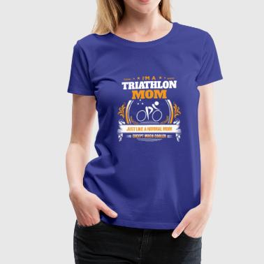 Triathlon Mom Shirt Gift Idea - Women's Premium T-Shirt