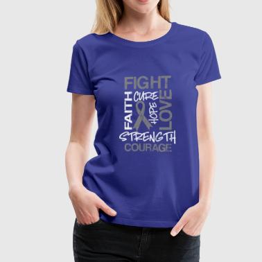 shirt for diabetes awareness day - fight and love - Women's Premium T-Shirt