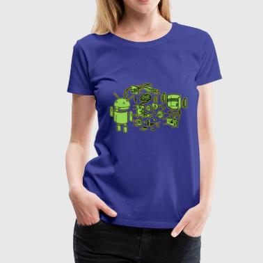 Android Exploded - Women's Premium T-Shirt