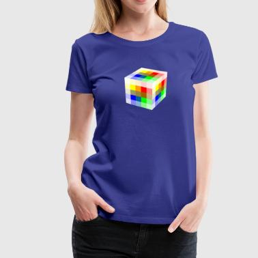 Multi Colored Cube - Women's Premium T-Shirt