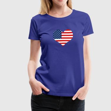 Gift for American, USA - Women's Premium T-Shirt