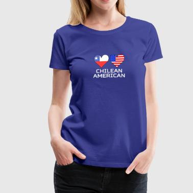 Chilean American Hearts - Women's Premium T-Shirt